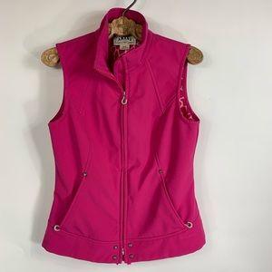 Ariat Pink fleece Lined Vest Sz Medium Zip Up